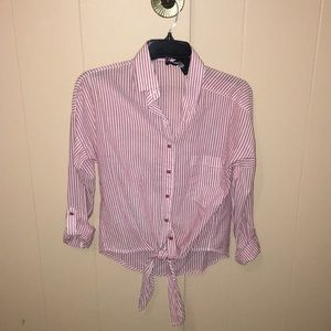 Tied Button Up Shirt